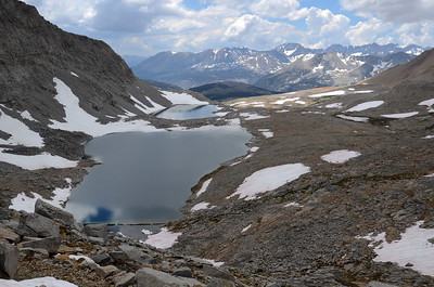 Lakes on the south side of Forester Pass.s