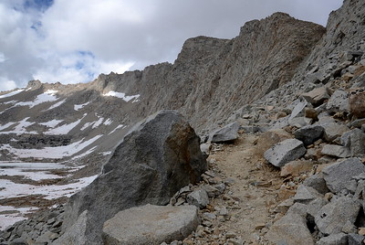 This was a tough climb with a very steep drop-off.
