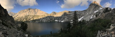 Black Mountain, Upper Rae Lake, and Painted Lady panorama.