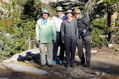 Our little group at Upper Vidette Meadow. Photo by Robin Newcomer.