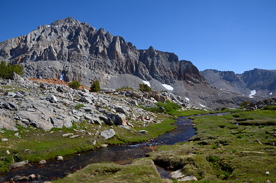 Small creek in the gorgeous basin below Mt. Wynne and Pinchot Pass.