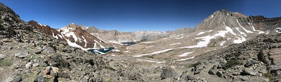 Panorama looking northwest from the top of Pinchot Pass.