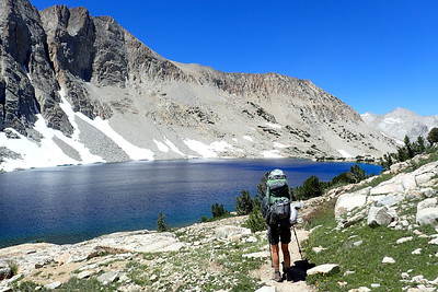 Jill contemplating Lake Majorie. Photo by Chuck Haak.