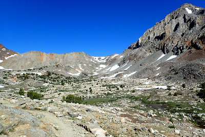 Pinchot Pass is the dip in the ridge in the center. Photo by Chuck Haak.