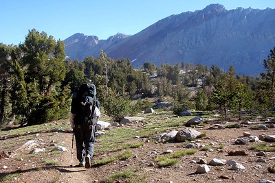 Chuck on his way to Pinchot Pass. Photo by Jill Haak.