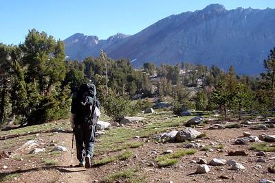 Chuck on his way to Pinchot Pass. Photo by Jill Haak.