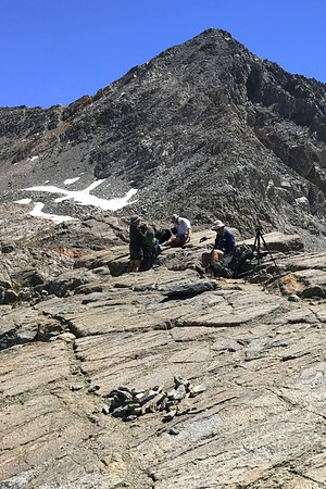 Jill, Chuck, and Scott on Pinchot Pass