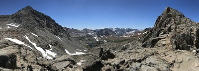 Panorama to the southeast from Pinchot Pass.