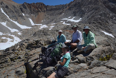 Zuzana, Jill, Chuck, and me on top of Pinchot Pass. Photo by Scott.