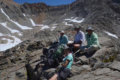 Zuzana, Jill, Chuck, and me on top of Pinchot Pass. Photo by Scott.