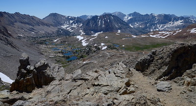 The view to the southeast from the top of Pinchot Pass.