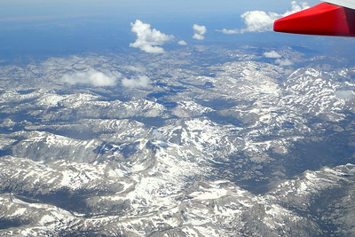 Look at all of that SNOW down there at the end of JULY!! The Sierra Nevada mountains  expeienced a 200% snowfall this year. Photo by Chuck Haak.