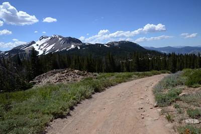 Looking back toward Mammoth Mountain.