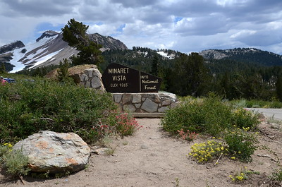 While in the Mammoth Lakes area, we did a day hike with mostly full packs to get accustomed to hiking at a higher altitude. We drove up to a spot called Minaret Vista and hiked from there up the San Joaquin Ridge a ways.