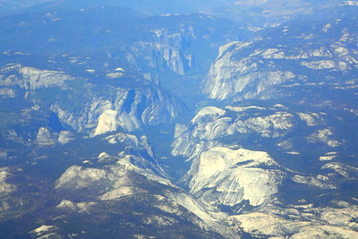 Chuck & Jill's flight from San Diego to Reno passed right by Yosemite Valley, which would be our final destination. Photo by Chuck Haak.