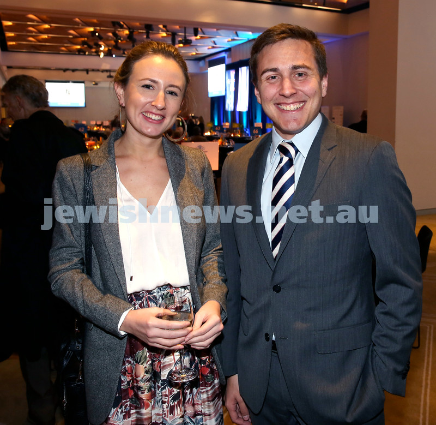 JNF Gala Dinner at Randwick Racecourse. Sarah Pinczewski (left), and her brother Jack. Pic Noel Kessel.