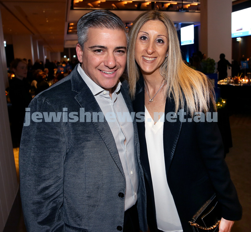 JNF Gala Dinner at Randwick Racecourse. Danny and Danielle Tiabel. Pic Noel Kessel