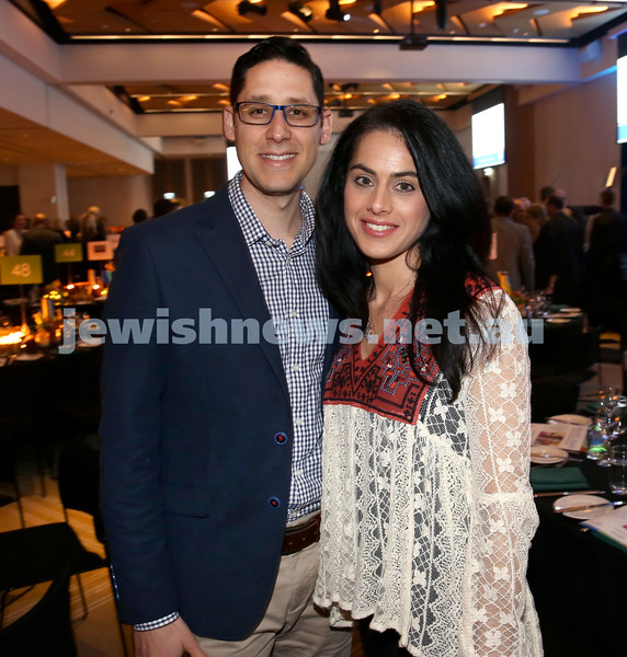 JNF Gala Dinner at Randwick Racecourse. Jason and Monique Winderbaum. Pic Noel Kessel.