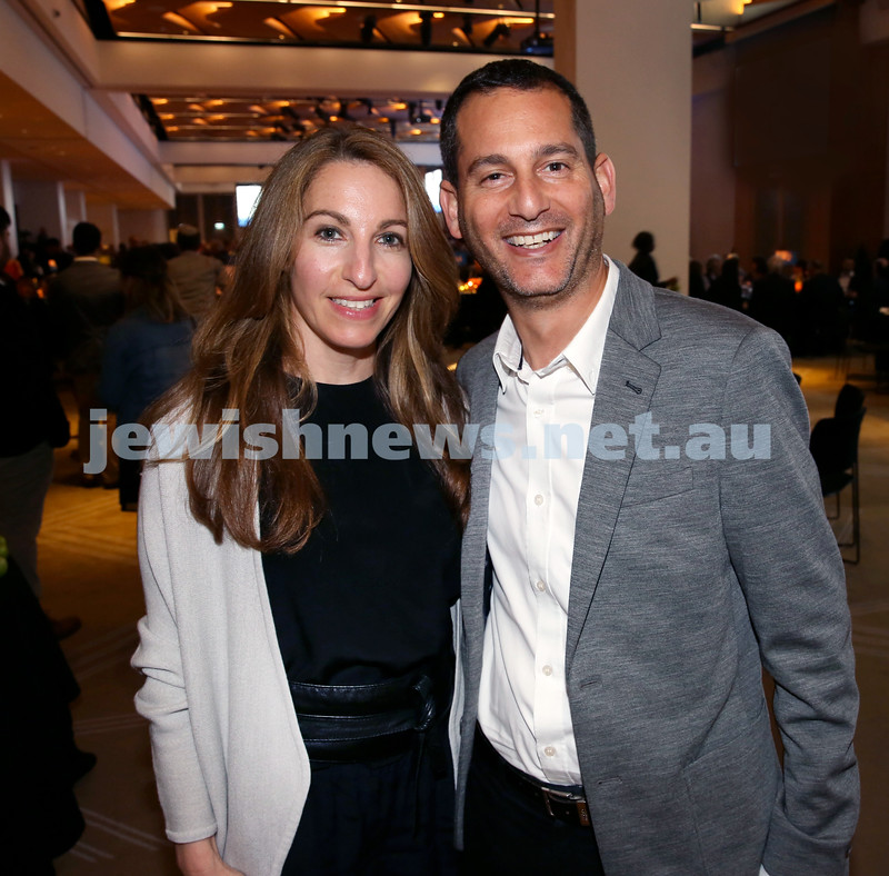 JNF Gala Dinner at Randwick Racecourse. Lauren and Simon Briggs. Pic Noel Kessel.