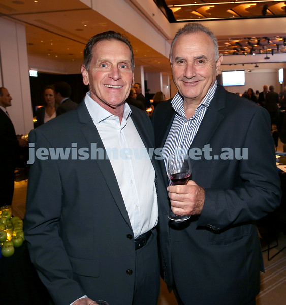 JNF Gala Dinner at Randwick Racecourse. Kevin Krail (left), Joe Staub. Pic Noel Kessel.