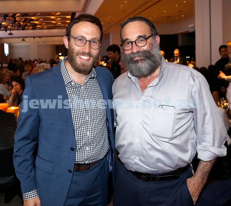 JNF Gala Dinner at Randwick Racecourse. Rabbi Yossi Friedman (left), Rabbi Elozer Gestetner. Pic Noel Kessel.