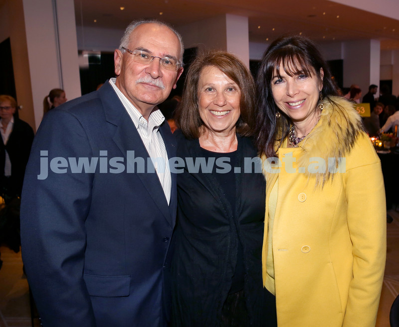 JNF Gala Dinner at Randwick Racecourse. Andre and Eva Jaku, Michelle Baird. Pic Noel Kessel.