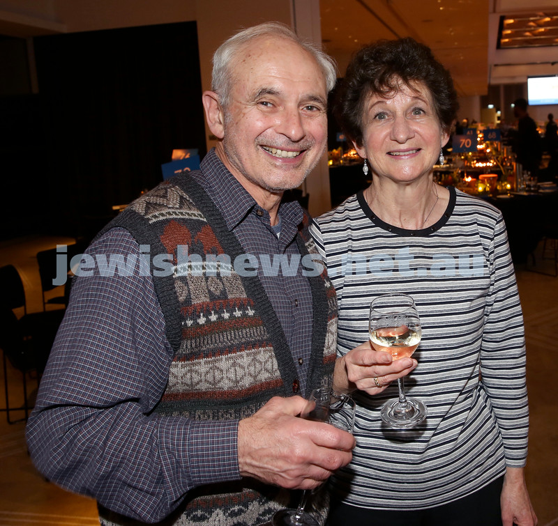 JNF Gala Dinner at Randwick Racecourse. Tony and Charmene Britton. Pic Noel Kessel.