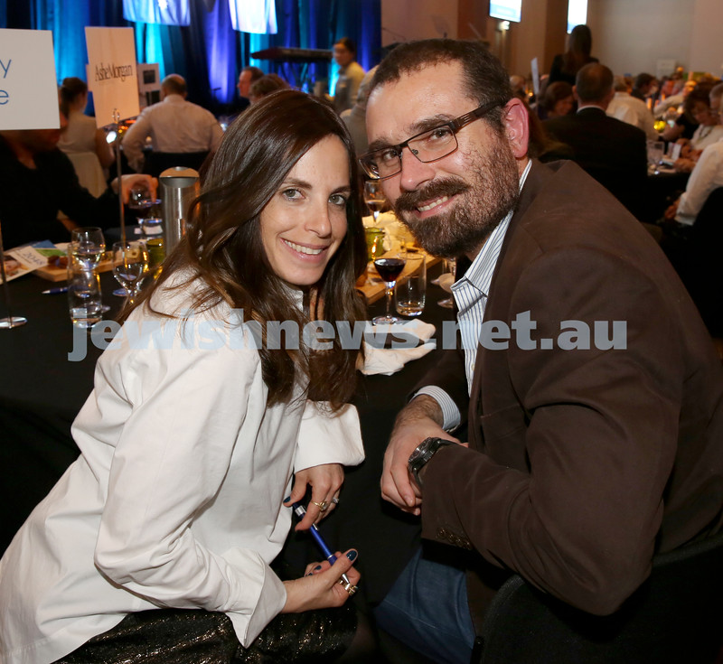 JNF Gala Dinner at Randwick Racecourse. Tova and Mendy Moss. Pic Noel Kessel.