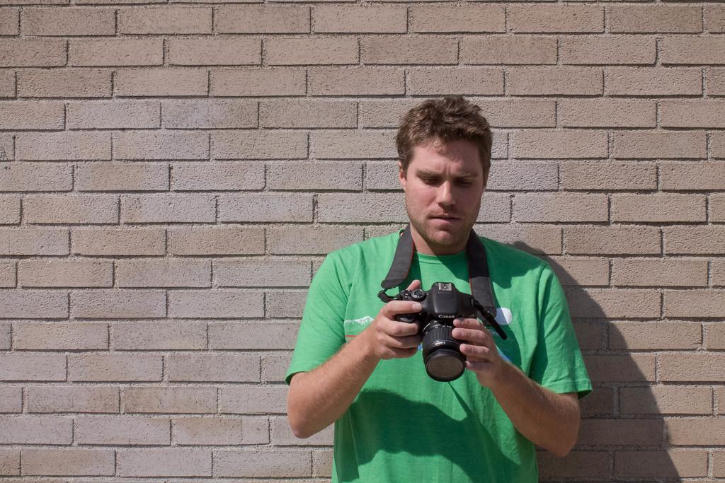 Trevor Ballantyne learning portrait photography at BU COM.