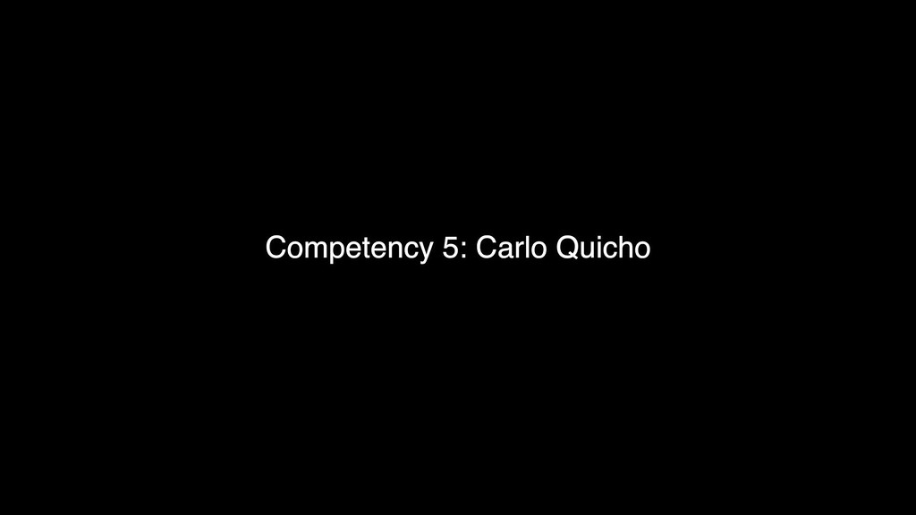 Comptency 5