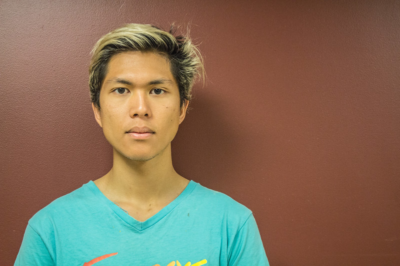 Portrait of  Carlo, COM JO303 Boston University student inside the School of Communication taken on september 12th, 2017.
