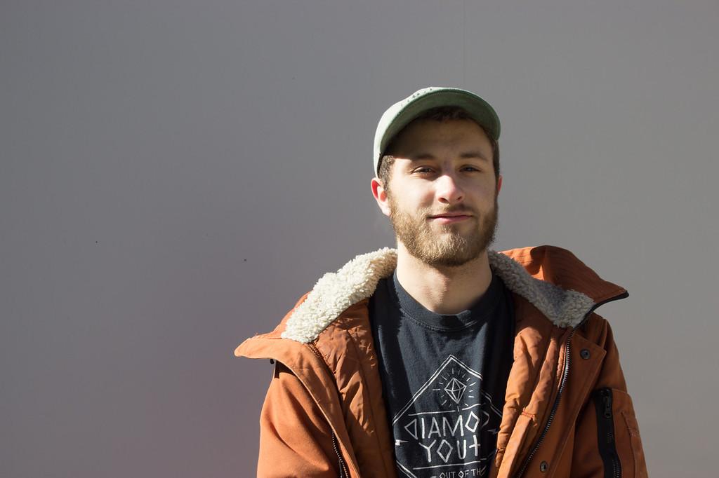 Zach McCollum, Boston University Student, at the George Sherman Union in Boston, MA on Feb 6, 2018.