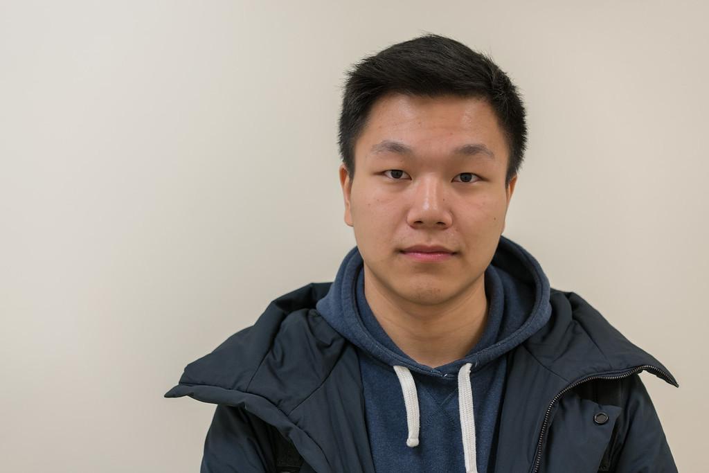 BU student photographed inside COM 2018