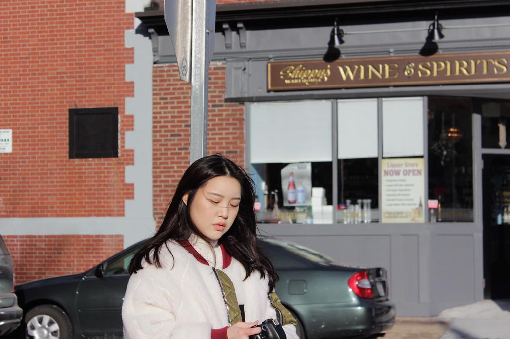 Shinhee Kim in front of Shippy's