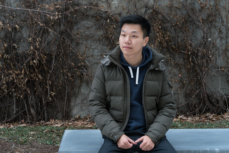 Dengfeng Yang posing dramatically