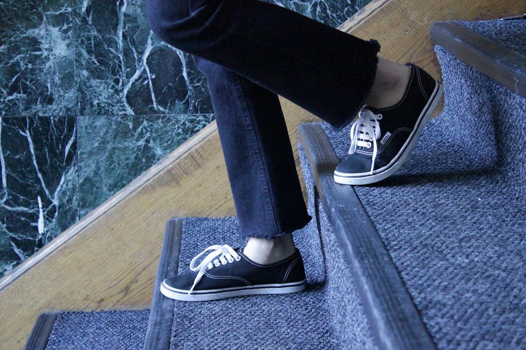 Hyunji Lee Walking Down Apartment Stairs