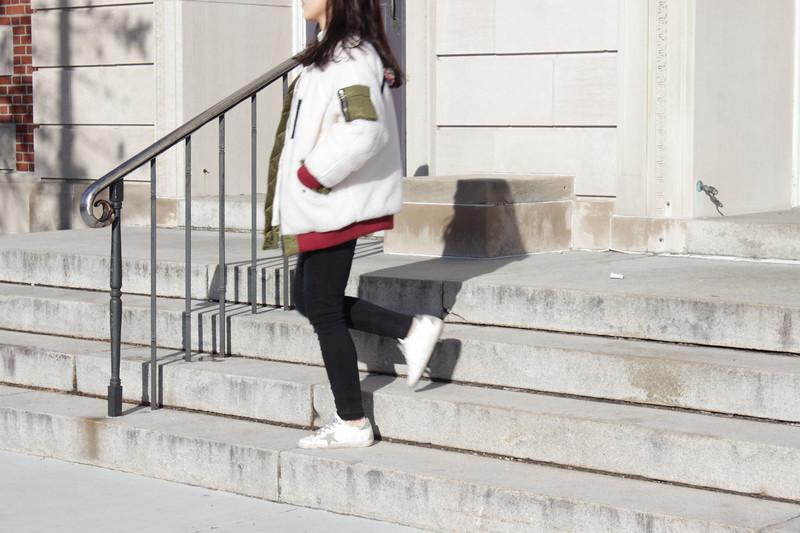 Shinhee Kim Walking Outdoors