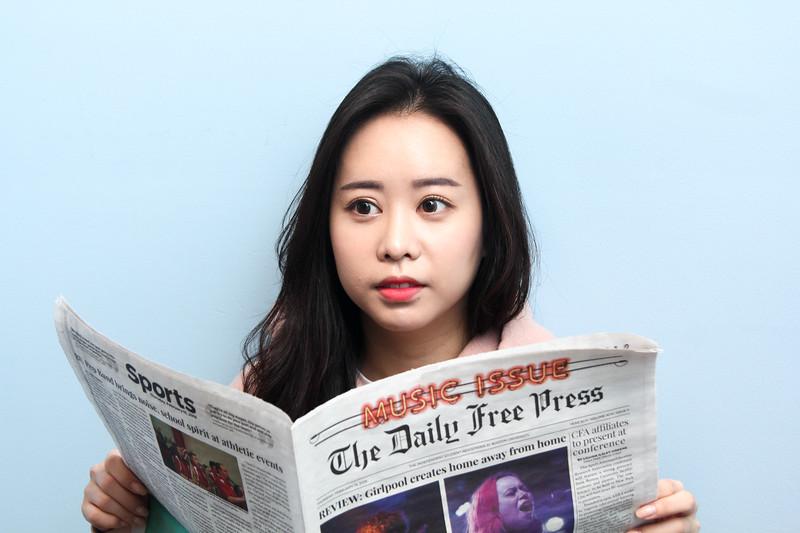 Hyunji Lee Reading The Daily Free Press