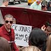 Nick Jonas Promotes Album in Union Square NYC