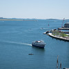 Boston, MA, June 15, 2016.  a boat in the ocean. Photos were shot during a Boston University photography class field trip.