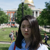 Boston, MA, June 1. Grace Feng in Boston Common. Pohtos were shot as a part of a class project.