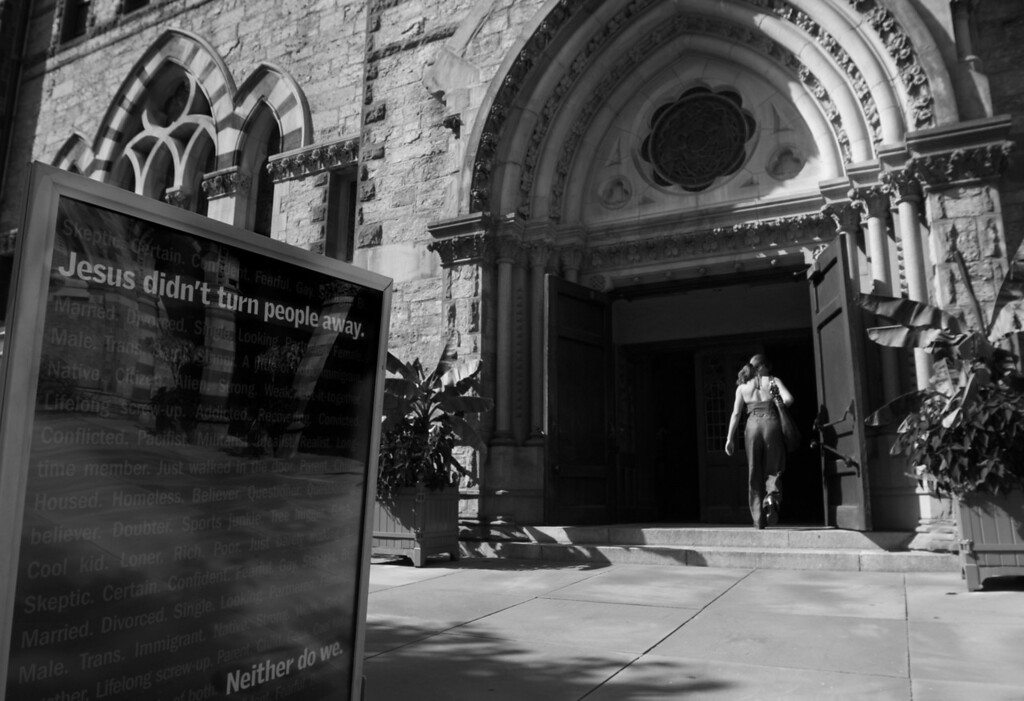 """""""Jesus didn't turn people away."""" Sept. 2012. Boston, MA<br /> Photo by: Yongmyung Yi"""