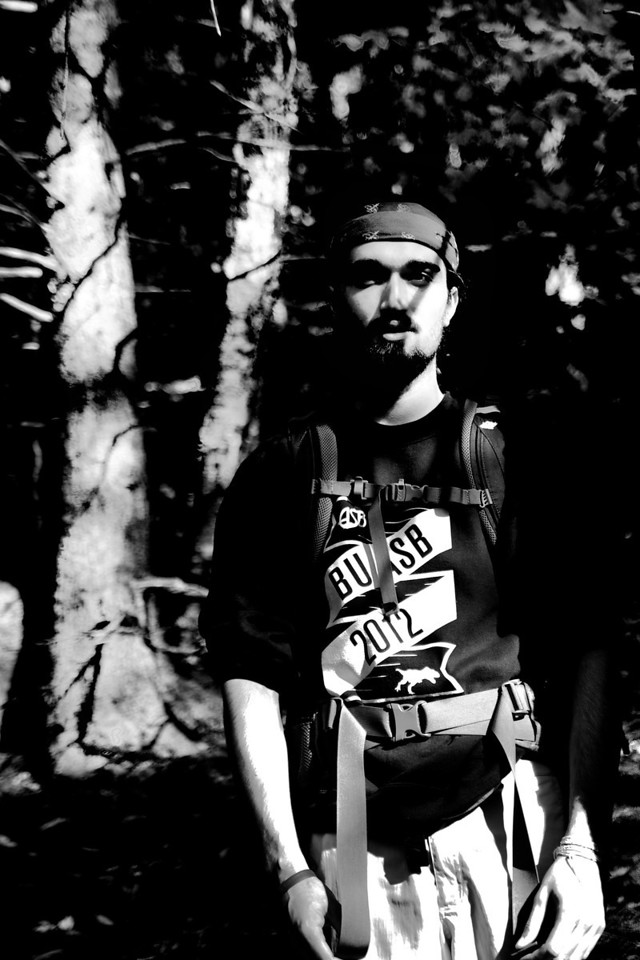 October 7th, 2012, Photograph of Tanner Connolly on Mount Chocorua in New Hampshire to demonstrate light and shadow.