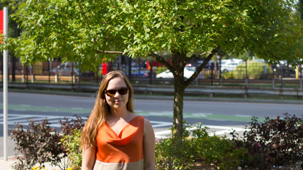 September 6,2014, Jordan Tillery, Journalism Student at Boston University, Poses outisde Communications building, Assignment for Toolkit JO502