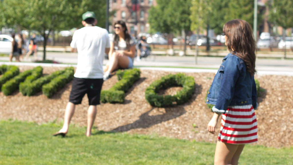 Boston, Mass. JO502. Hayley Crombleholme poses for a class activity. September 6, 2014.