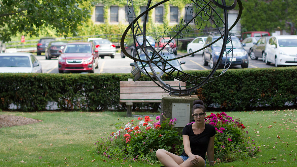 September 6, 2014. Rebecca Sananes, journalism graduate student, Boston University, portrait for photo exercise