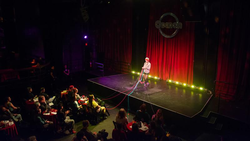 Jo Troll performs at Femmeshow at OBERON theatre in Harvard Square, April 19.