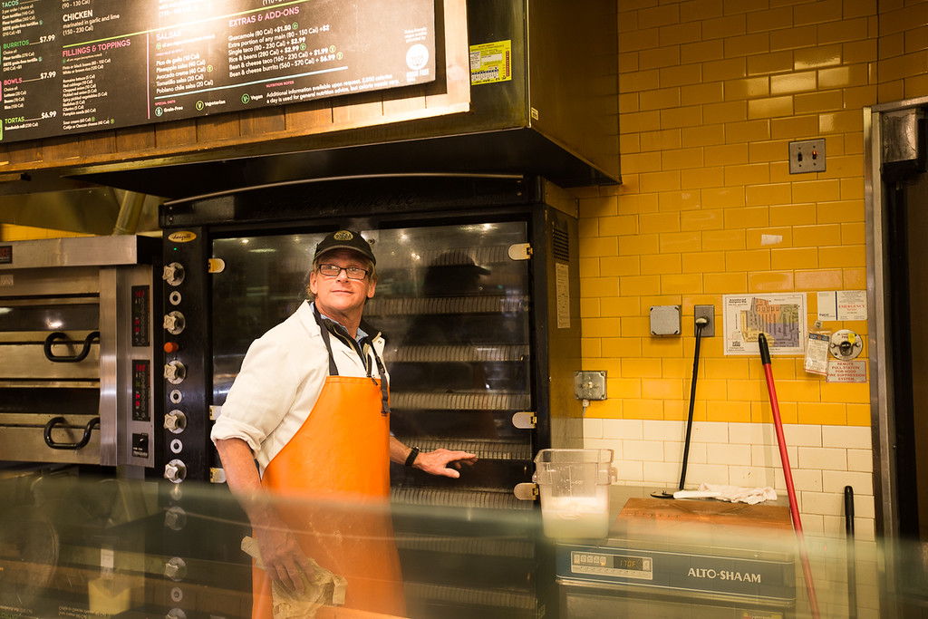 William Hinman is a dish washer at Whole Foods Market. WIlliam is deaf and dumb, but he enjoys the world around him and is always smiling to strangers. This is his fifteenth year working at Whole Foods and he is still passionate and possitive.