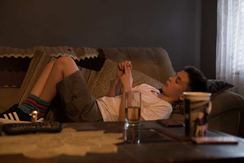 Jimmy Walker dozes off at his family home in Somerville. (Photo by Billy Bevevino)