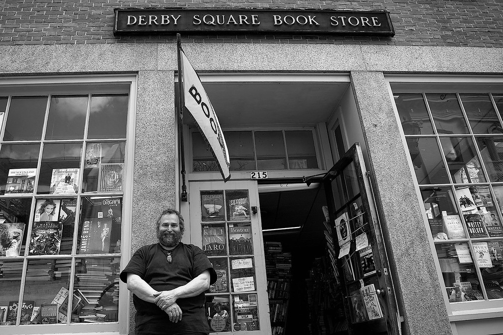 """March 30, 2013- Derby Square Book Store co-owner, Ted Monroe. """"We've been here for almost 39 years now and I suspect we'll be here at least a few more."""" Photo by: Jasmin Bleu Pellegrino"""